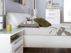 Bardini Jansey Queen Upholstered Storage Headboard Only in White. I wonder how difficult it would be to try to recreate?...