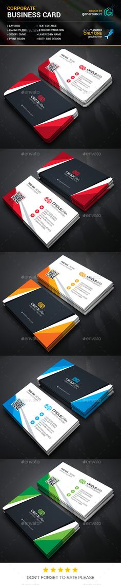 Criclegra Corporate Business Cards Template #design #visitenkarte Download: http://graphicriver.net/item/criclegra-corporate-business-cards_3/12316364?ref=ksioks