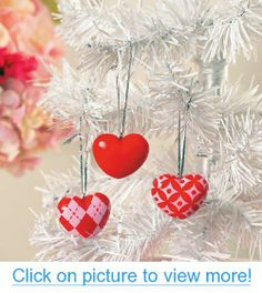 Valentine Tree Ornaments - Home $ Valentine's Day Decor - One Dozen #Valentine #Tree #Ornaments #Home # #Valentines #Day #Decor #One #Dozen