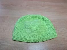 Crochet Uncinetto Cappellino Neonato Verde - YouTube