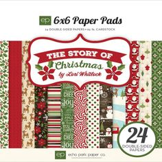 Echo Park Paper Pad - The Story Of Christmas 6 x 6