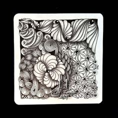 #zentangle #art #abstract #inkart #doodle #design #draw #shading #lilymoon #lilystangles #floral