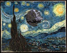 Death-Starry Night @Megan Baker now your art history nerdiness and star wars nerdiness can be one