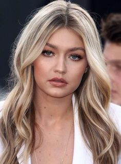 Gigi Hadid Style Long Wavy Synthetic Hair Lace Front Cap Wig