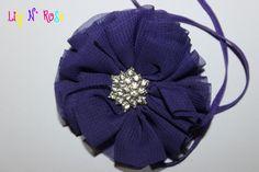Purple Jazzy Flower by LilyNRoseHeadbands on Etsy, Baby Headbands, Winter Hats, Purple, Flowers, Stuff To Buy, Etsy, Accessories, Fashion, Moda