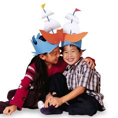 These great Thanksgiving crafts create a festive mood the whole family can enjoy! Check out these exciting thanksgiving crafts for kids from Disney Family. Thanksgiving Crafts For Kids, Thanksgiving Traditions, Thanksgiving Activities, Fall Crafts, Thanksgiving Hat, Autumn Activities, Crazy Hat Day, Crazy Hats, Silly Hats