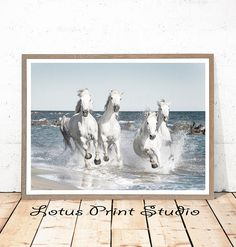Running Horses Print, Animal Wall Art, Modern Decor, Horse Photography, Large Printable Poster, Instant Download, #164
