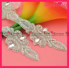 Allibabac.om  sewing on beads rhinestone crystal appliques for wedding dresses wholesale WRA-385
