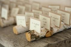 These woodsy escort cards are the perfect rustic touch