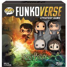 Harry Potter - Harry, Hermione, Bellatrix & Voldemort Pop! Funkoverse Strategy Game 4-Pack