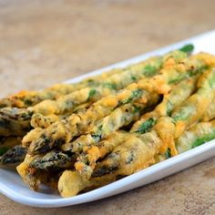 Beer-Battered Asparagus by onionringsandthings