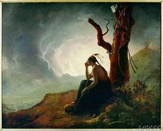 Joseph Wright of Derby - The widow of the Indian chief guards the