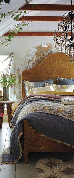 Rustic Bedroom #rustic #decor