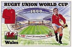 Reflections Postcards - Rugby World Cup 1999