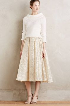 Saone Midi Skirt by Anthropologie - Mother of the bride look