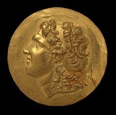 Roman Medallion Aboukir - Eastern Roman Empire, Beroia (headquarters of the Macedonian province), Century III,  gold.
