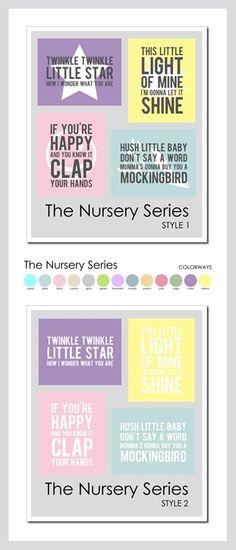 The Nursery Series Twinkle Lights, Twinkle Twinkle, Mini Albums, Baby Words, Subway Art, Chalkboards, Little Star, Hush Hush, Cut Outs
