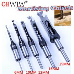 HSS Square Hole Saw Mortise Chisel Wood Drill Bit with Twist Drill-in Drill Bits from Tools on AliExpress