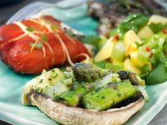 Grillade portobello- svampar med mozzarella
