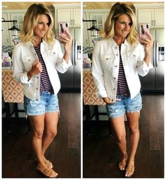 How to Wear a White Denim Jacket // Super comfortable white denim jacket perfect for any outfit this Spring and Summer // Spring Jacket // Under $100 White Denim Jacket // Spring Fashion // Summer Outfit // What to Wear to a Concert // Outfit of the Day #shopthelook #howto #howtowearawhitedenimjacket #whitedenimjacket #springjacket #summerjacket #affordabledenimjacket #springfashion #summeroutfit #whattoweartoaconcert #ootd