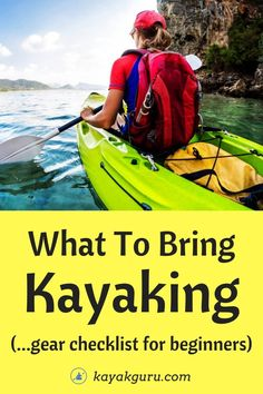 What To Bring Kayaking – Gear Checklist For Beginners What To Wear Kayaking, Best Fishing Kayak, Recreational Kayak, Kayaking Tips, Fishing For Beginners, Solar Charger, Getting Wet, Canoe, Outdoor Activities