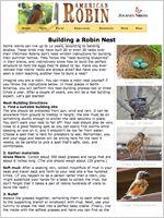 Building a Robin Nest