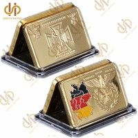 Wish | Gold Plated Layered Bar Germany 1oz Troy Ounce German Eagle Souvenir Medal Coin Collection