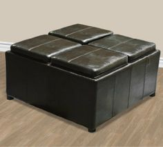 New Leather Ottoman With 4 Traytops Storage Coffee Table Sofa Brown Leather Furniture by Sky Enterprise USA, http://www.amazon.com/dp/B0043BQUGK/ref=cm_sw_r_pi_dp_03ELqb0M7J070