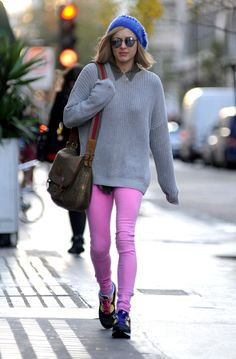 Fearne Cotton in pink jeans