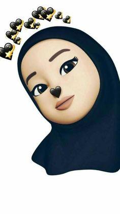 Cute Emoji Wallpaper, Cartoon Wallpaper Iphone, Cute Cartoon Wallpapers, Girly M, Cute Cartoon Girl, Cartoon Pics, Hijab Drawing, Girl Emoji, Islamic Cartoon