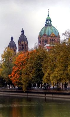 Autumn in Munich, Germany. Munich, the capital of Bavaria, is home to centuries-old buildings and numerous museums. (V)