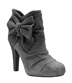 Gianni Bini Halo Suede Booties #Dillards I tried these on, couldn't walk, but have mercy they looked good.