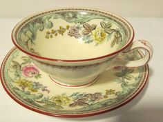 Vintage Tea Cup and Plate by VintagePoint101 on Etsy
