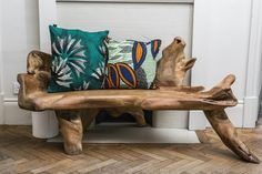 Nice prints and amazing design on that bench and flooring.  (African Prints in Fashion: Interior Design: House of Arike)