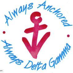 Delta G super cute for sororities with anchor symbolss!! kappa delta www.greekt-shirtsthatrock.com
