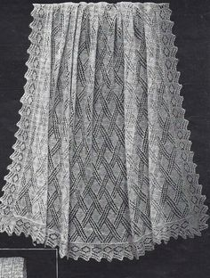 40s design Pierre Baby shawl epattern by VanessaLovesVintage, $2.40 knitting pattern, layette