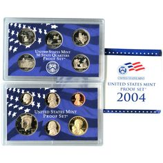 2004-S 11-Coin Proof Set including 5 State Quarters and 2 Commemorative Nickels