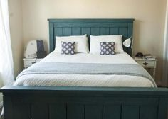 "16 Gorgeous DIY Bed frames • Tutorials, including this  ""DIY Cal King farmhouse bed"" from 'Ana White'!"