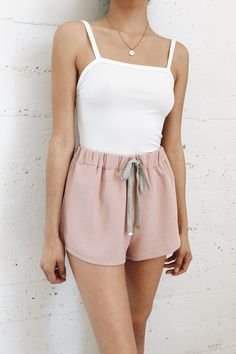 Spring Walks Drawstring Shorts