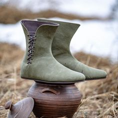 """Celtic Inspired Leather Boots """"Leprechaun"""""""