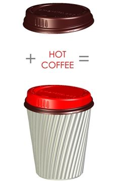 Smart Lid is a disposable lid which turns from brown to red when hot.