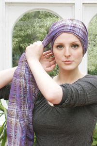 Turban style scarf tie tutorial