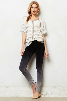 Mother Looker Velvet Jeans #anthropologie - Love this whole outfit - There is shopping in my future today