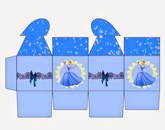 Cinderella: Free Printable Box with Heart Closure.