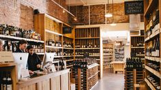 Flat Iron Wines Spirits shop, plus other top natural wine shops to try. (Top Shop Interior)