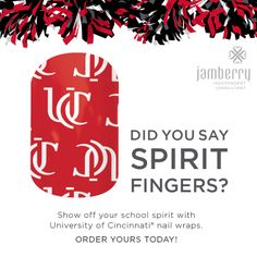 UC nail wraps! Show off your Bearcat pride!