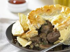 steak and kidney pie. i have never ever had this dish where the pie stuffing was moist. not even in england