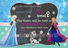 Disney Frozen, Frozen Birthday Party Invitation - Frozen Invitation