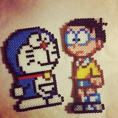 Doraemon characters perler beads by dodo171012