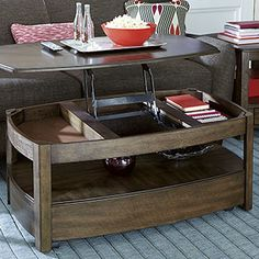 Have this exact coffee table! But not with this finish, totally love it! #summerproject #re-purpose